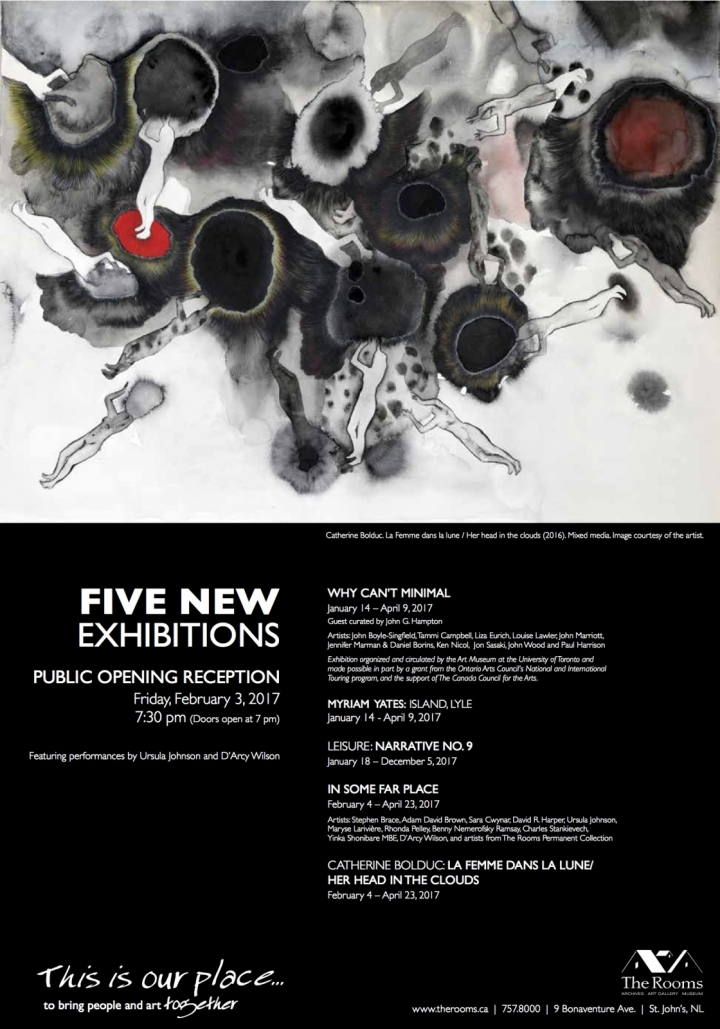 Five New Exhibitions at The Rooms Poster