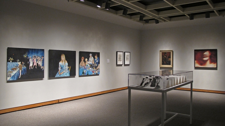 Photo of the Gallery with artworks installed