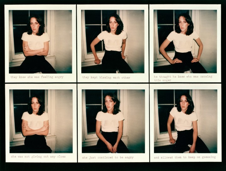 photo series of a woman in a white t-shirt