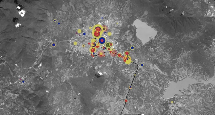 Image: Forensic Architecture, The Ayotzinapa Case: A Cartography of Violence (still), 2017. Video, 18 min. 24 sec.