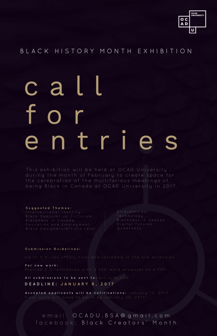bhm call for entries poster