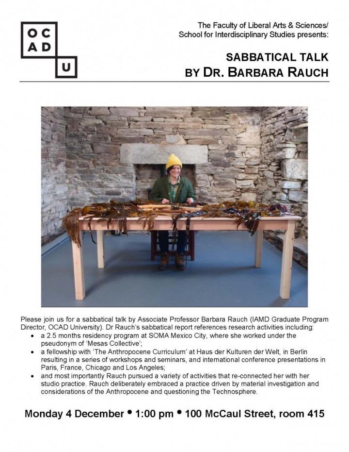 Barbara Rauch - Sabbatical Report