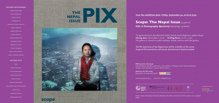 Poster for Scope: The Nepal Issue, group show
