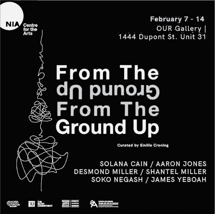 From the Ground Up poster, white text on black background