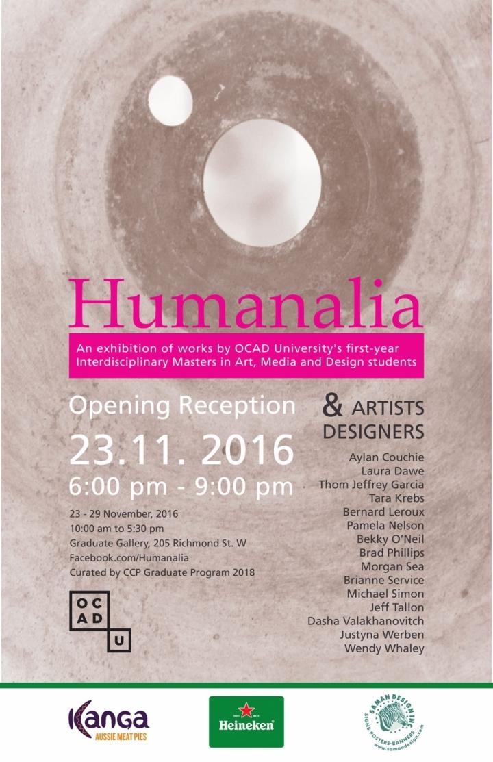 poster - Humanalia exhibition