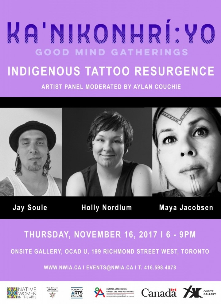 Ka'nikonhrí:yo Gatherings: Indigenous Tattoo Resurgence Panel