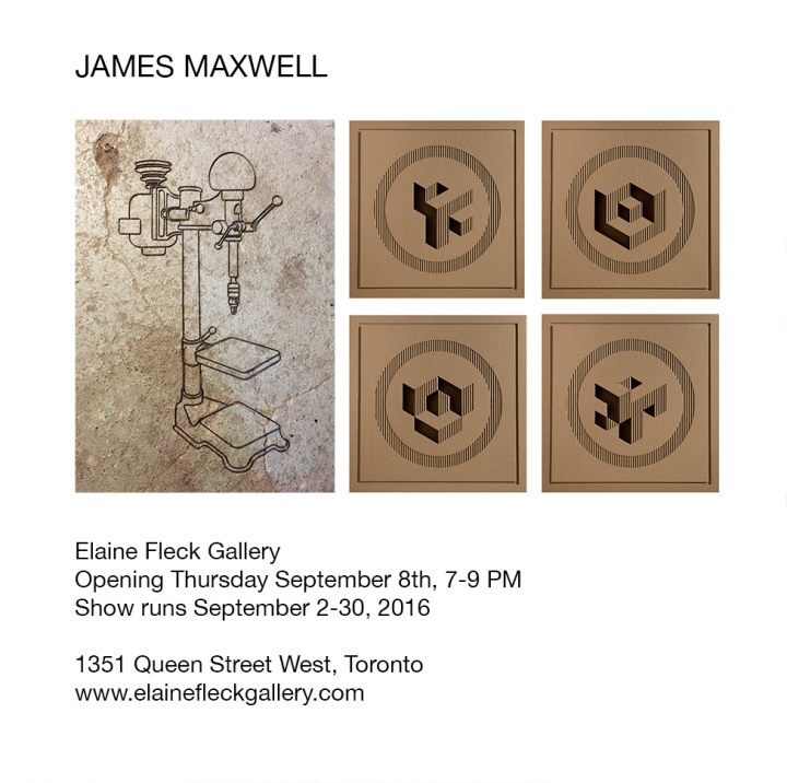 James Maxwell poster with examples of his metalwork