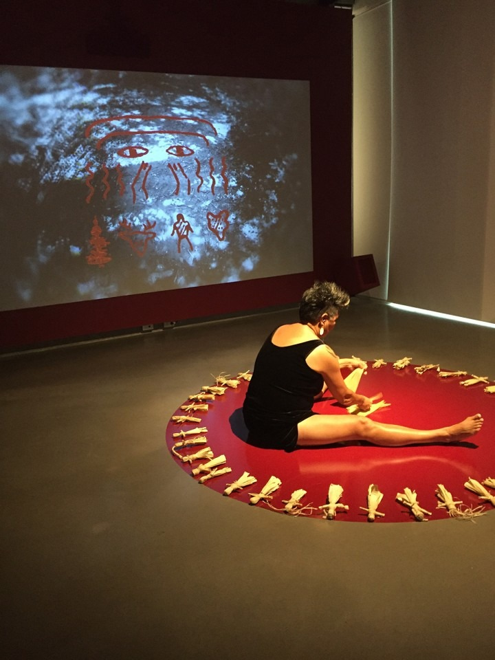 Janet Rogers performance at Onsite Gallery, September 16 2017