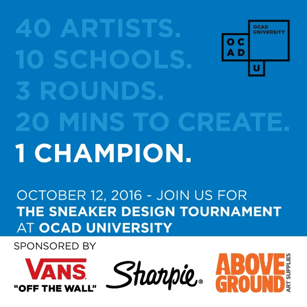 40 Artists. 10 Schools. 3 Rounds. 20 Mins to Create. 1 Champion. Poster with event info and sponsors