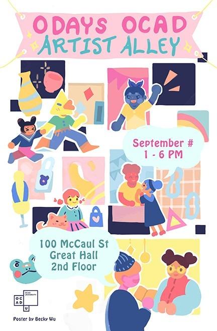 Artist Alley poster September 2019