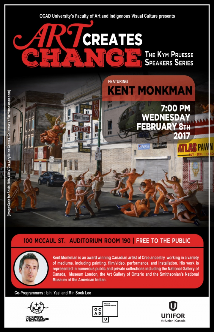 Poster for ACC public talk by Kent Monkman