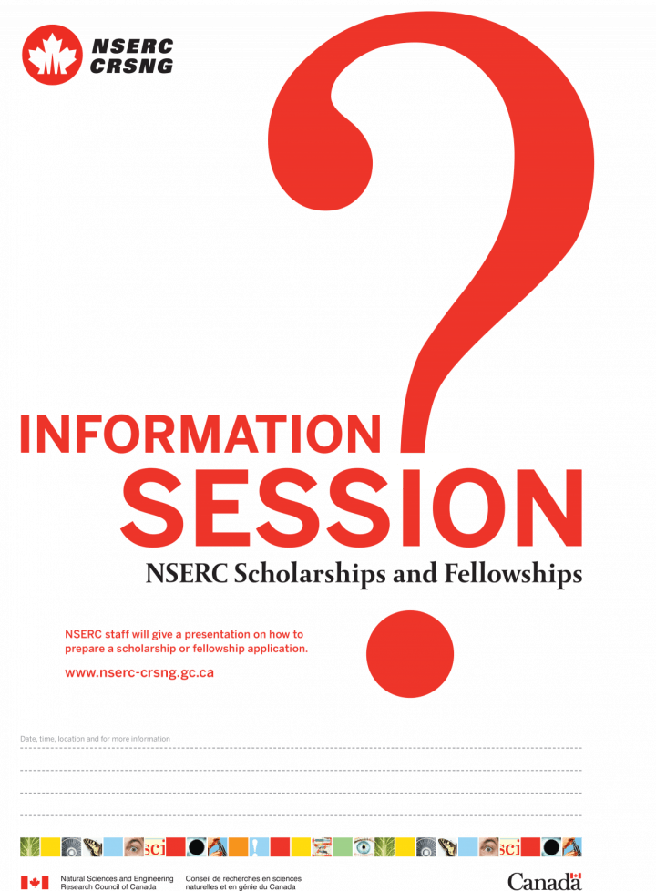 NSERC Information Session Poster