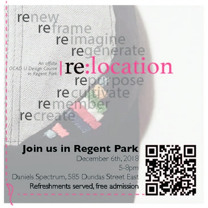 invite to Regent Park Gallery