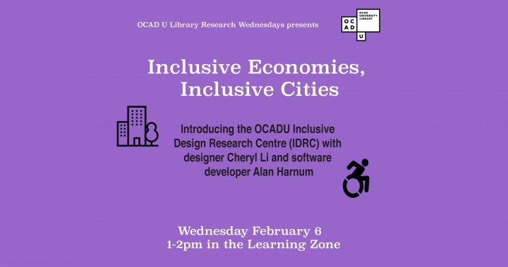 Introducing the OCADU Inclusive  Design Research Centre (IDRC) with  designer Cheryl Li and software  developer Alan Harnum