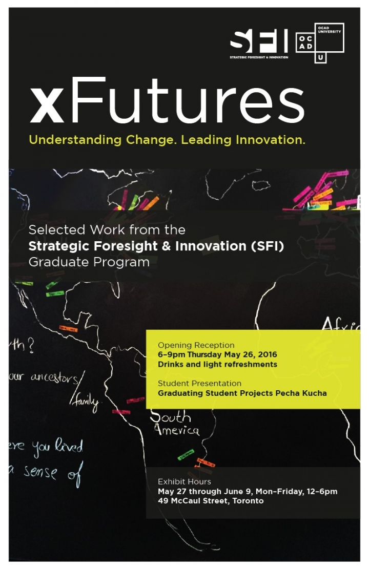 xFutures Exhibition poster