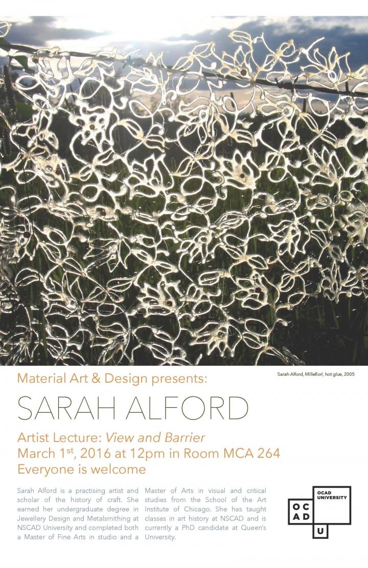 Poster for Sarah Alford