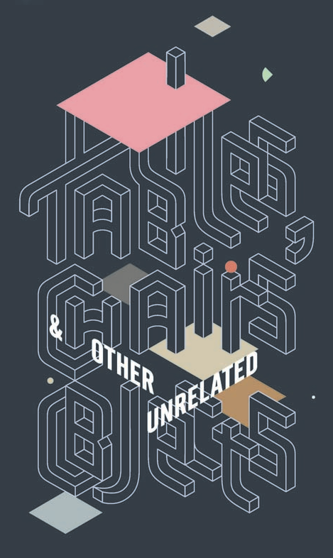 Tables, Chairs & Other Unrelated Objects exhibition poster