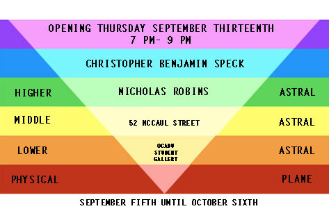 Opening Thursday September 13th 7PM-9PM 52 McCaul St. OCAD U Student Gallery Sep 5 - Oct 6