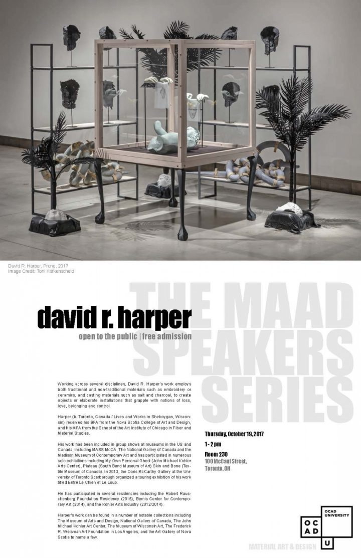 MAAD Speakers Series: Davir Harper
