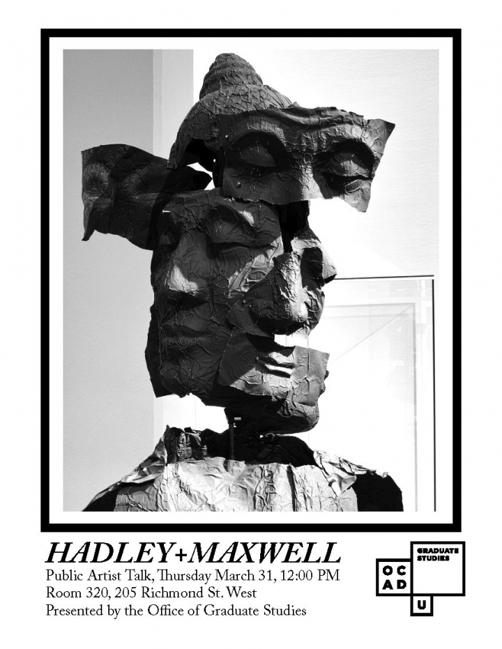 HADLEY+MAXWELL poster with event info