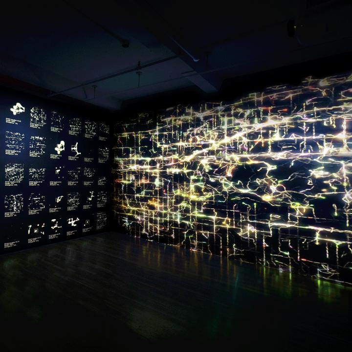 digital images in dark room