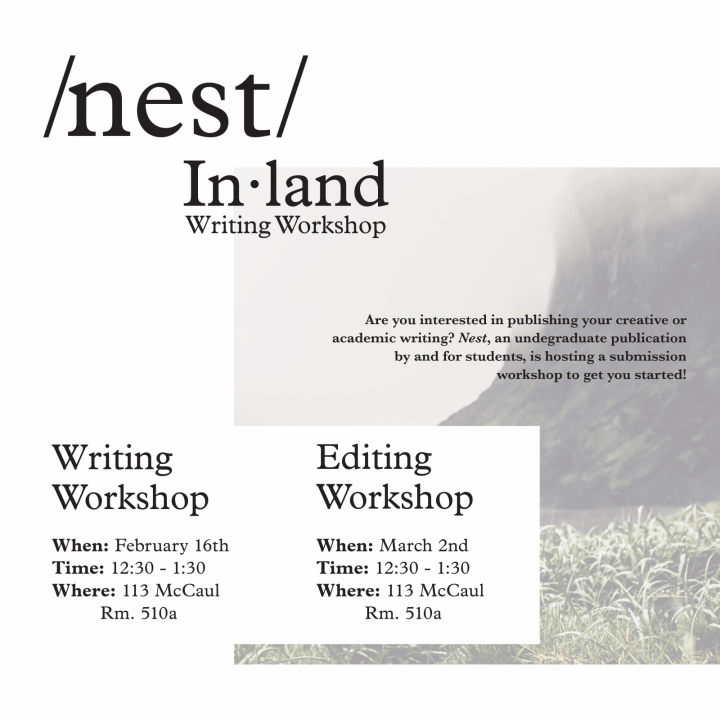 Editing Workshop for nest publication on March 2, 2018