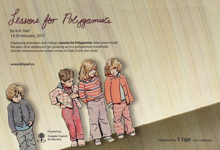 illustration of three young children and text