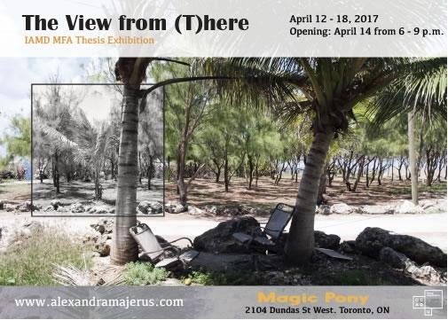 photograph of tropical beach - exhibition postcard