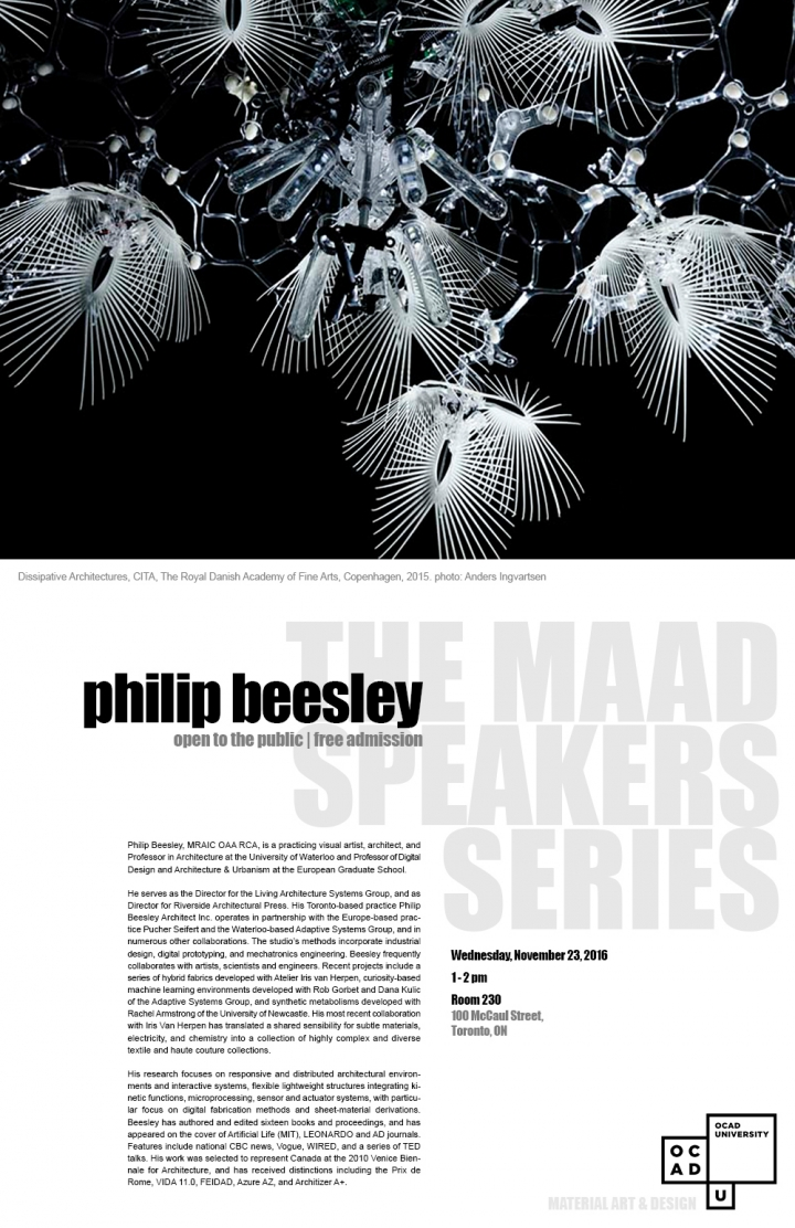 Philip Beesley Poster