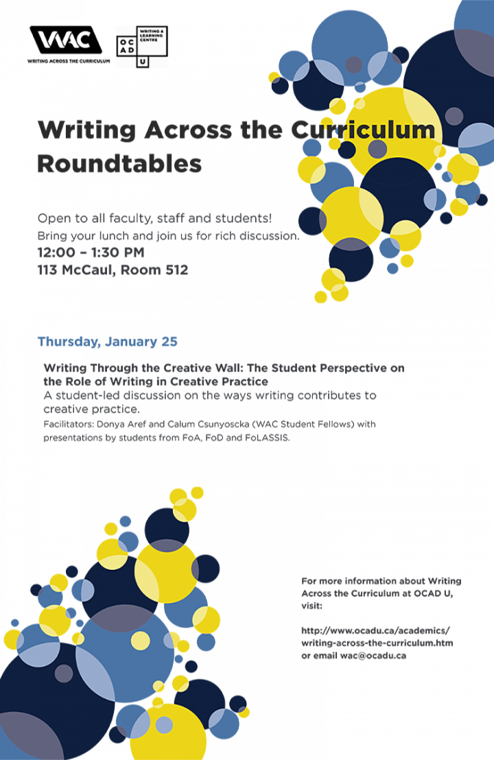 WAC Roundtable: Thursday January 25th 2018