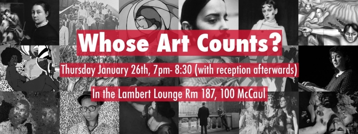 Whose Art Counts? event poster