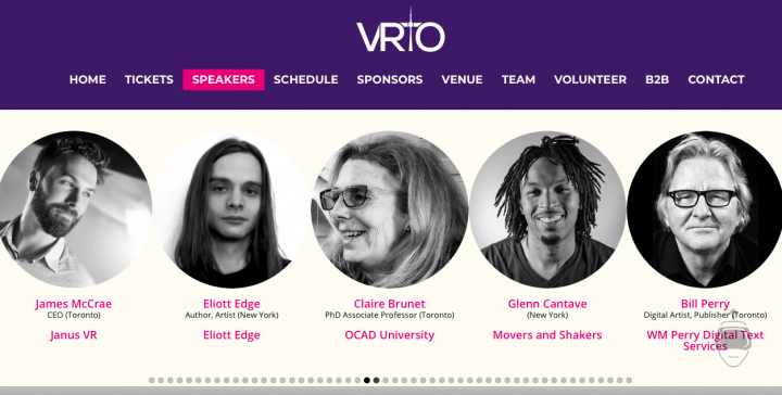 Screen shot of Dr. Claire Brunet's profile on the VRTO website.