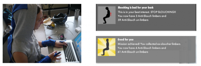 Limber in use at a desk