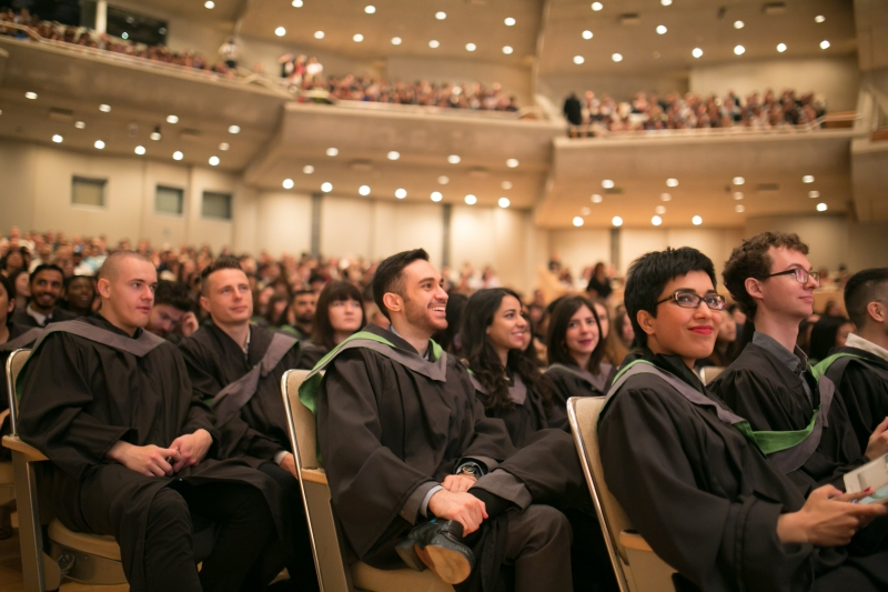 Graduands seated at Roy Thomson Hall