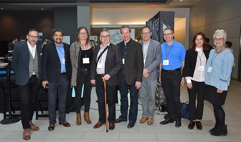 Higher Education Category winning group; Alastair MacLeod (fifth from left), photo courtesy: ORION