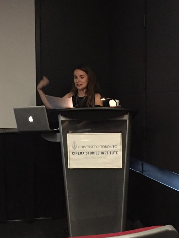 Selmin Kara giving a presentation