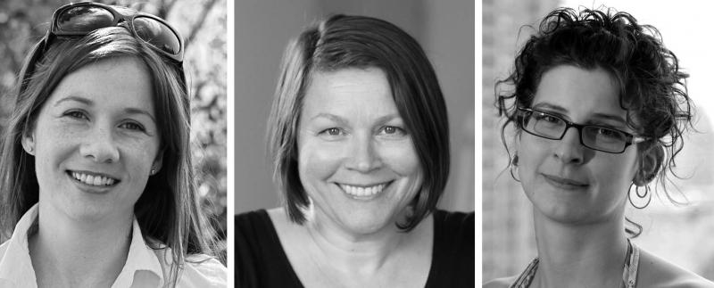 Catherine Black, Nicole Collins and Saskia van Kampen