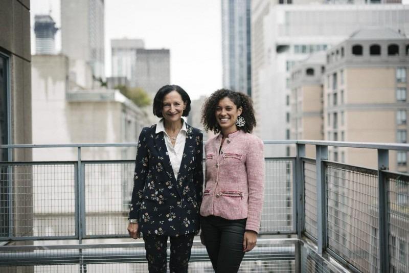 President Sara Diamond, left, and Dr. Alia Weston (photo courtesy: Toronto Star)