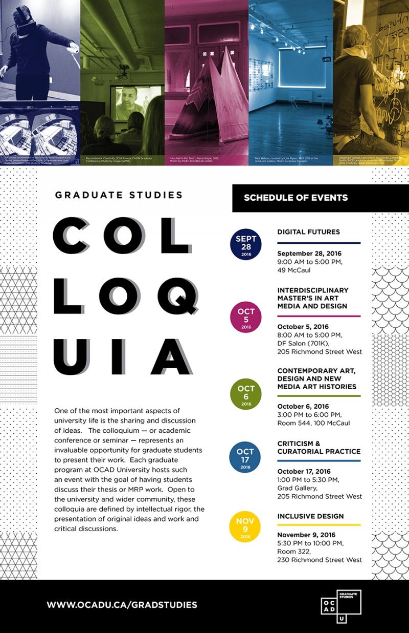 Graduate Studies 2016 Colloquia