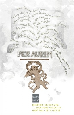Per Aurim poster with event info