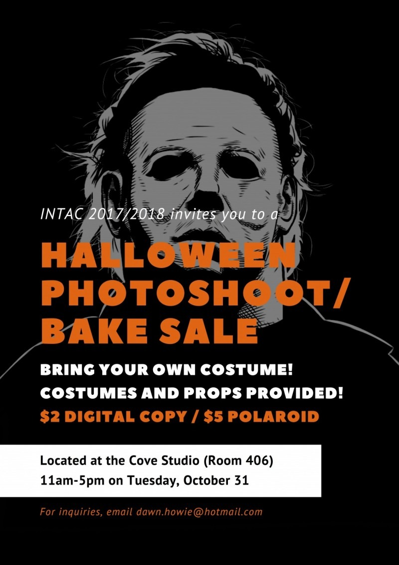 spooky face graphic with fundraier details