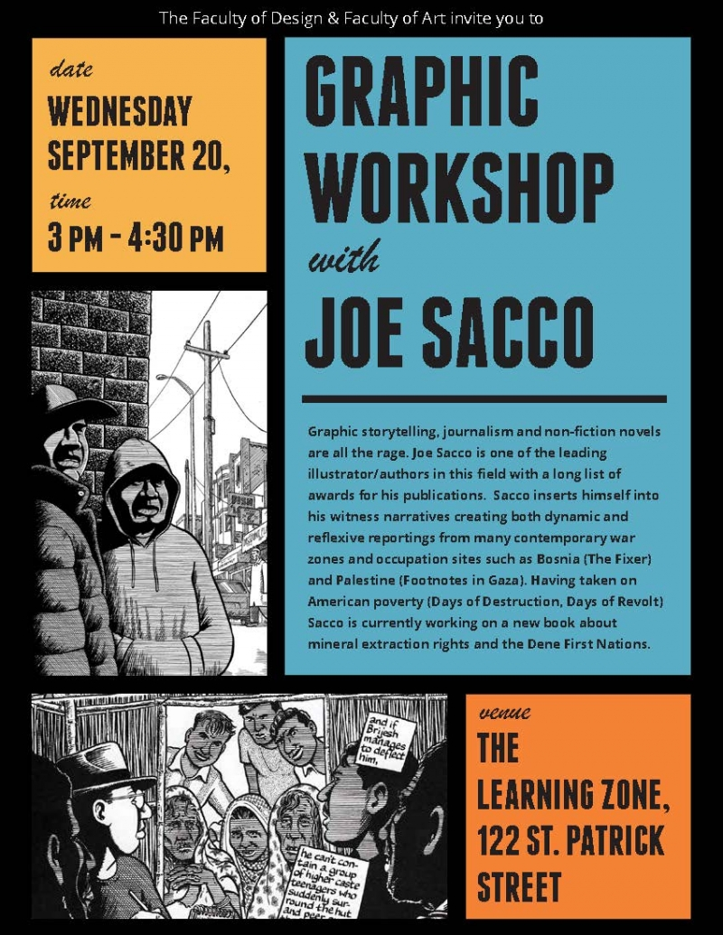 Graphic Workshop with Joe Sacco