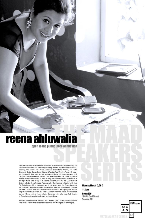 MAAD Speakers Series: Reena Ahluwalia