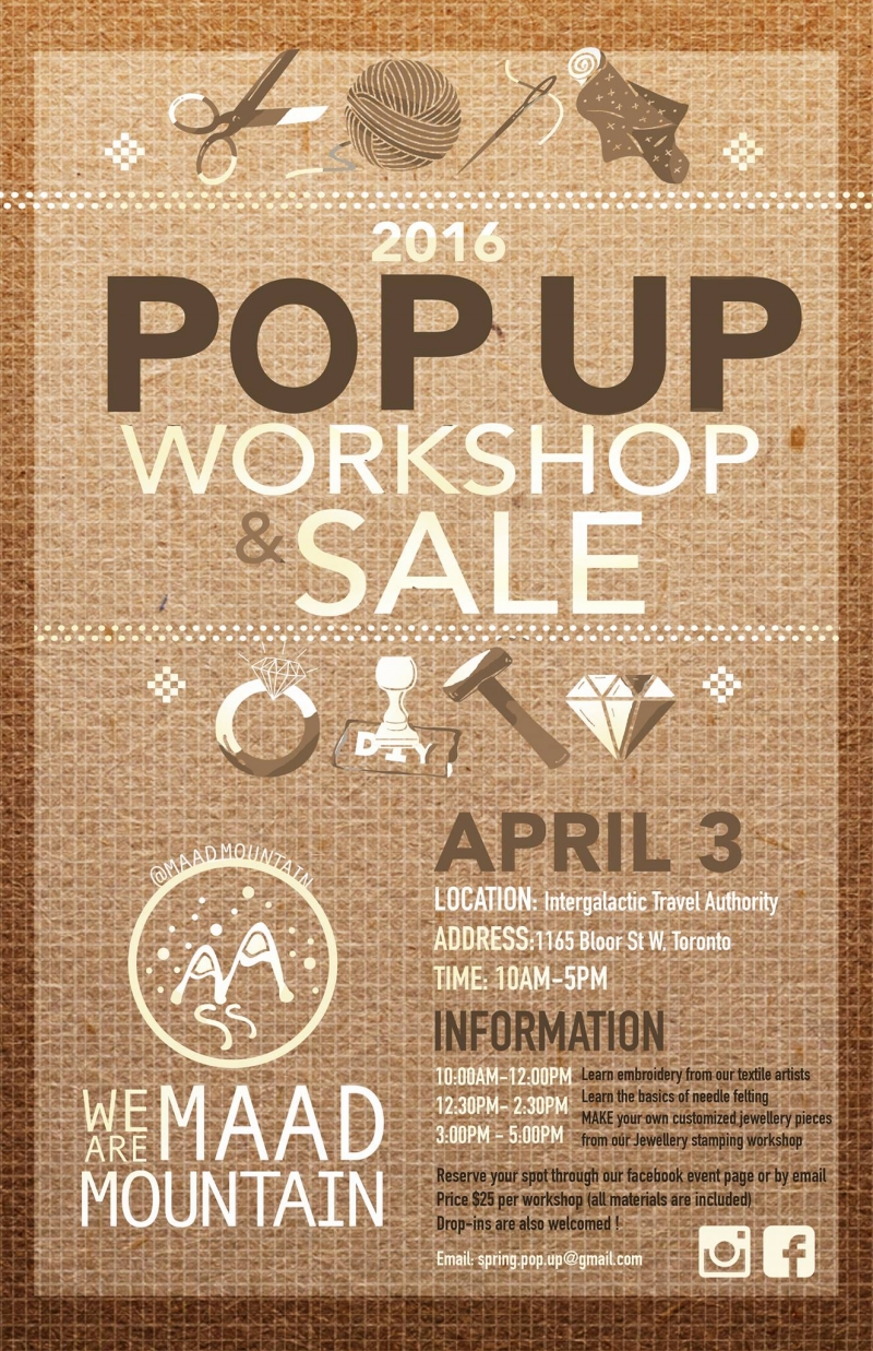 MADD Popup Shop Poster