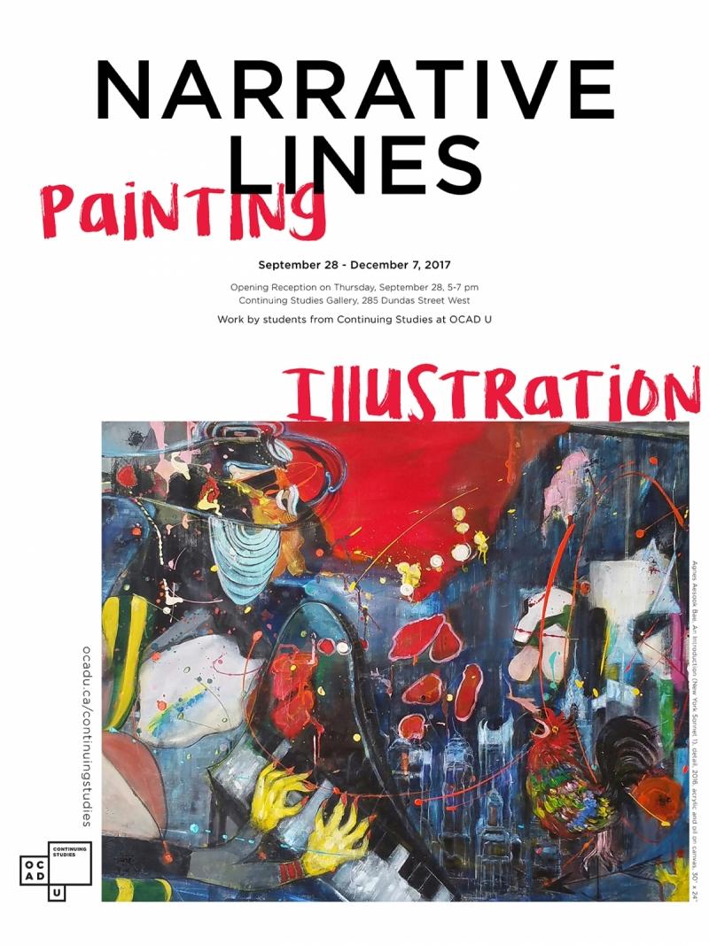 Narrative Lines Poster