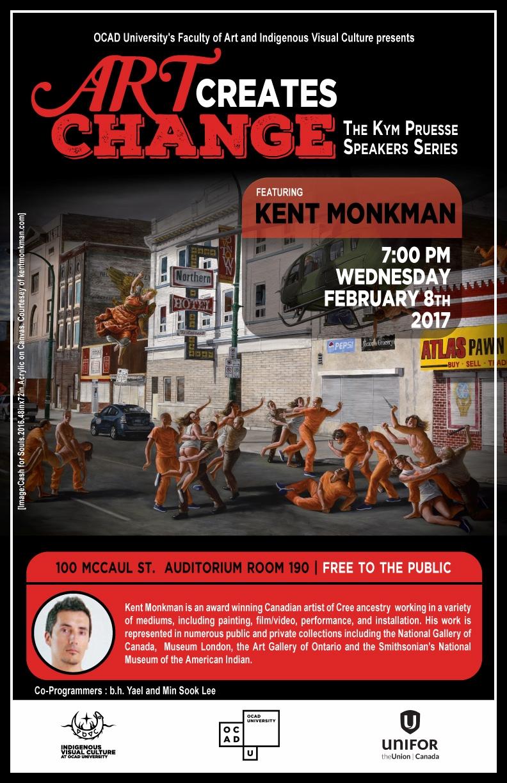 Poster for ACC public talk by Kent Monkman