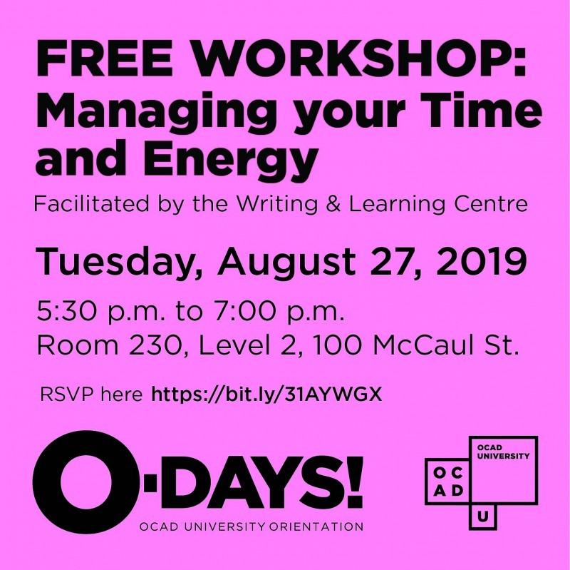 Time Management workshop graphic