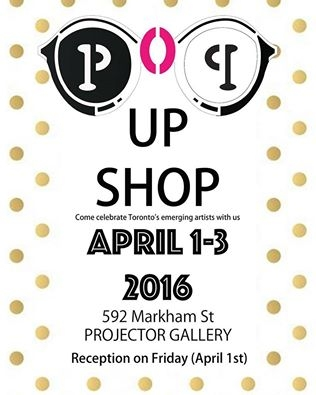 POP UP SHOP poster with event info and sunglasses graphic