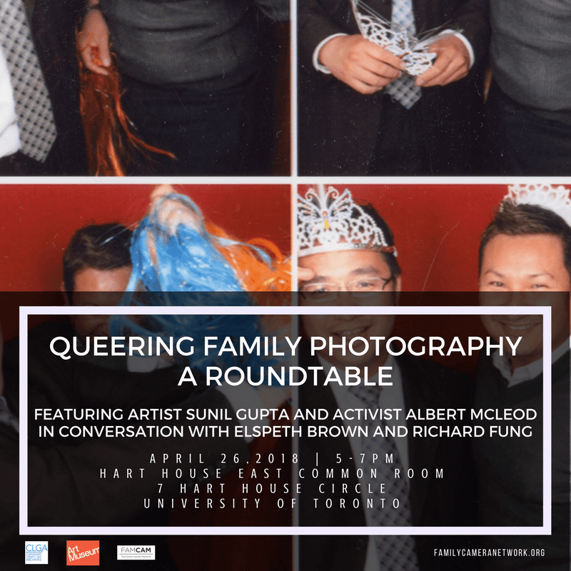 poster for Queering Family Photography roundtable event