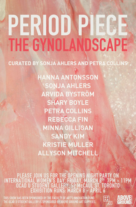 Period Piece The Gynolandscape poster with event info